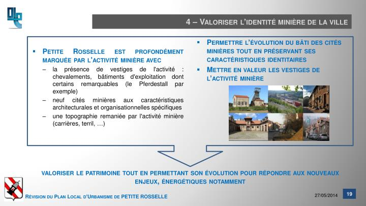 4 – Valoriser l'identité minière de la ville