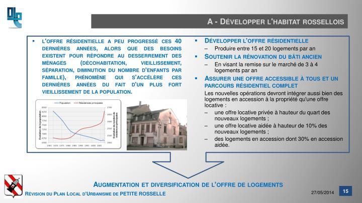 A - Développer