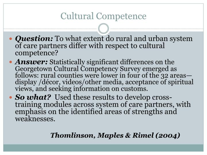 Cultural Competence