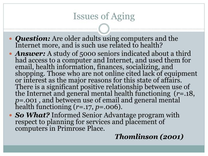 Issues of Aging