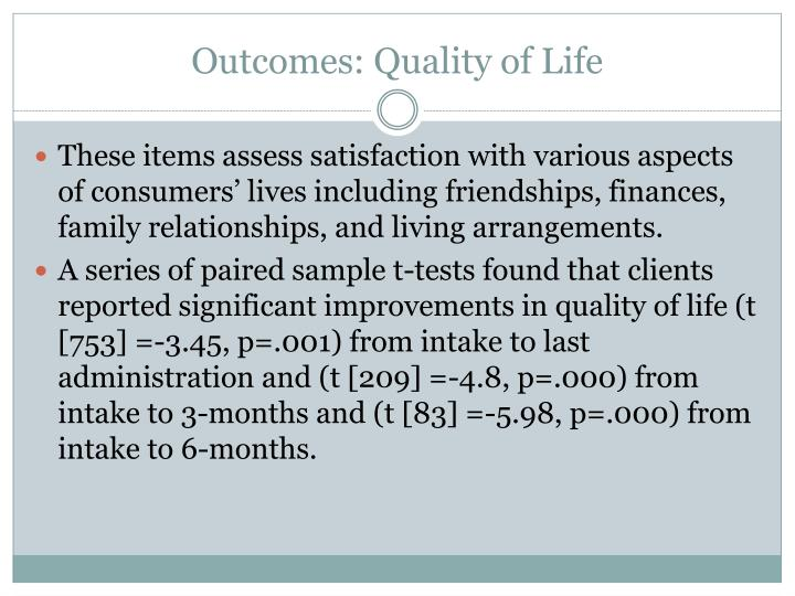 Outcomes: Quality of Life
