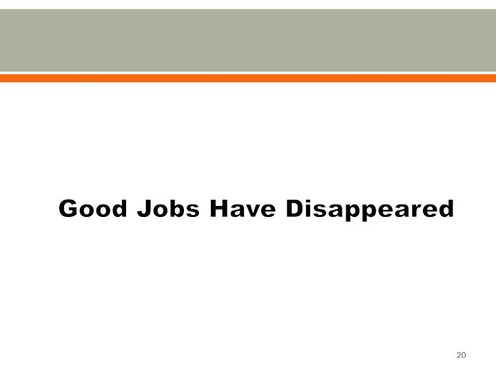 Good Jobs Have Disappeared