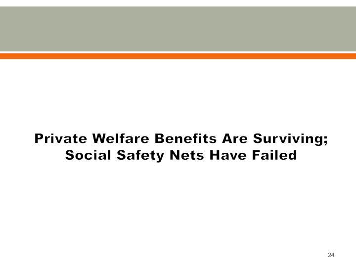 Private Welfare Benefits