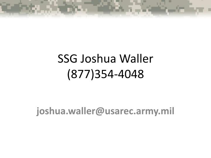 SSG Joshua Waller