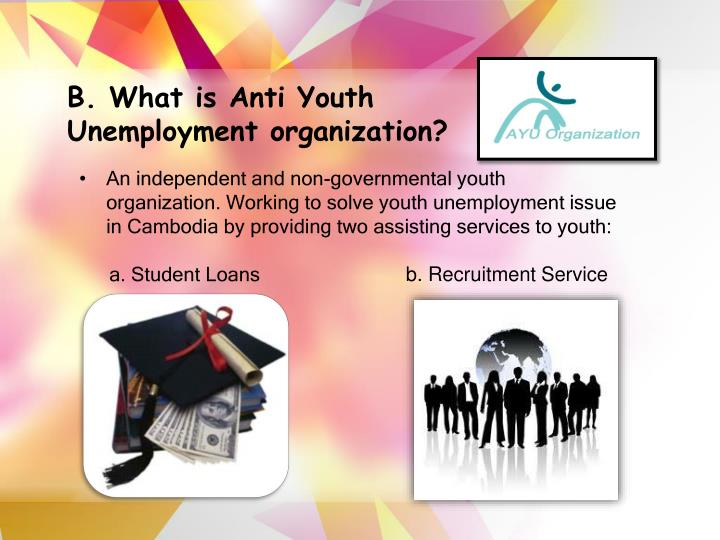 B. What is Anti Youth Unemployment organization?