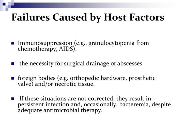 Failures Caused by Host Factors