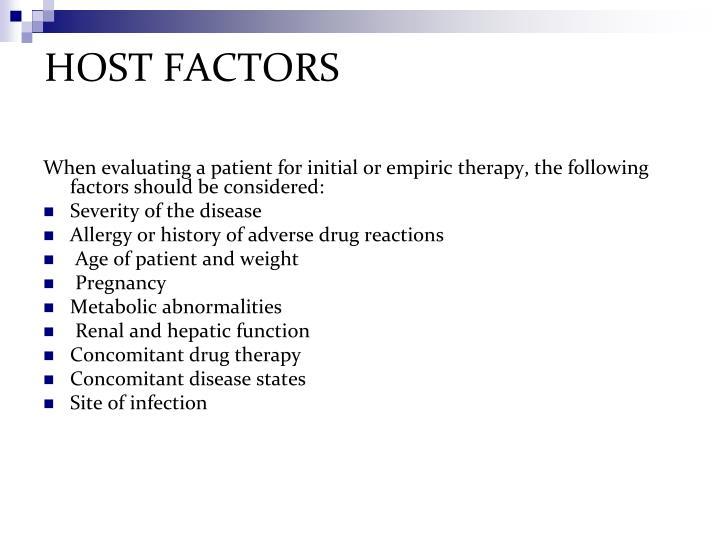HOST FACTORS