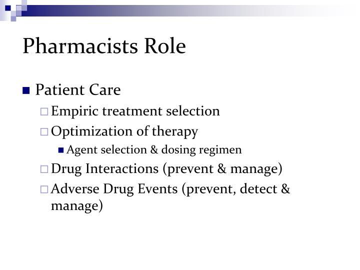 Pharmacists Role