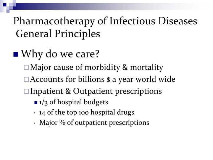Pharmacotherapy of Infectious Diseases