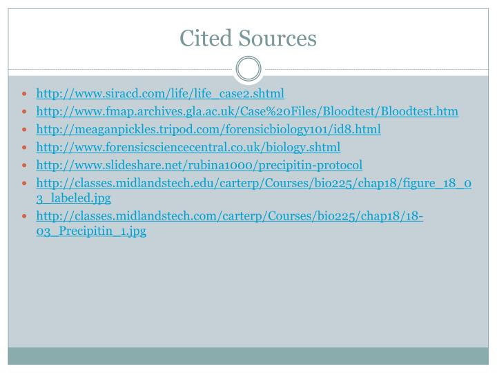 Cited Sources