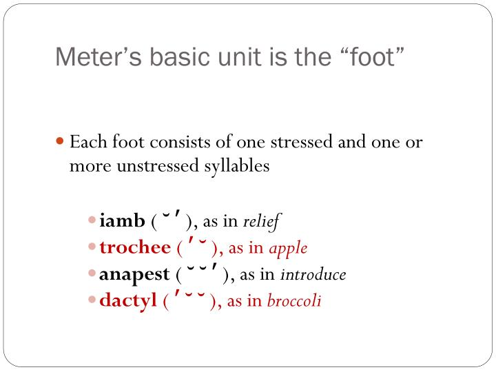 "Meter's basic unit is the ""foot"""