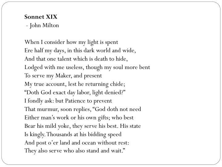 Sonnet XIX