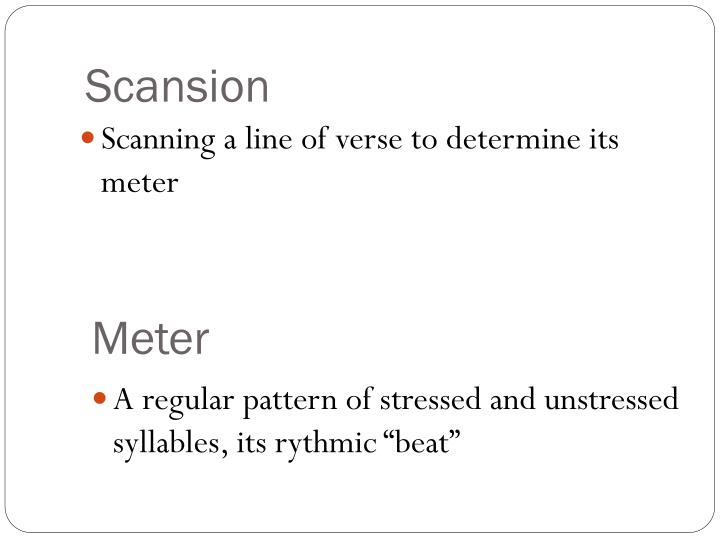 Scansion