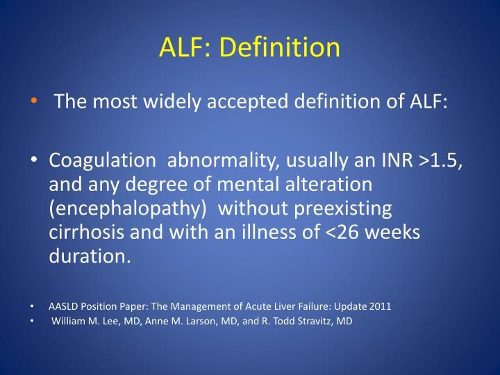 ALF: Definition