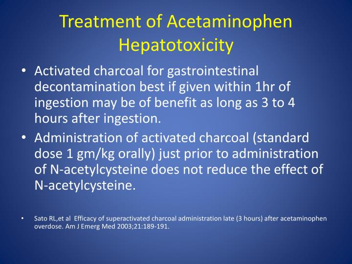 Treatment of Acetaminophen
