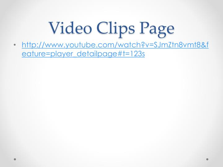 Video Clips Page