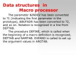 dat a structure s in macro processor1