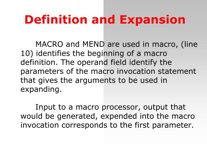 Definition and Expansion