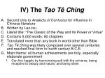iv the tao t ching
