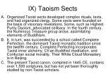 ix taoism sects