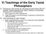 v teachings of the early taoist philosophers