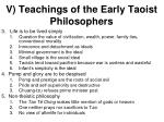 v teachings of the early taoist philosophers1