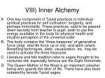 viii inner alchemy