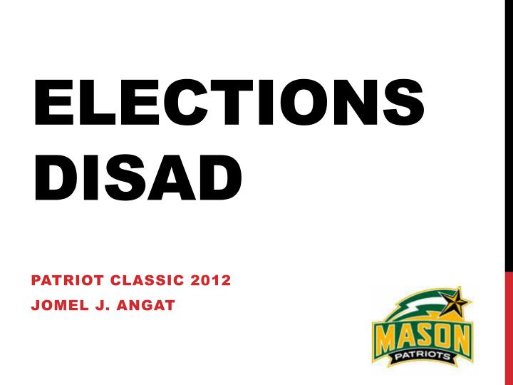 Elections disad