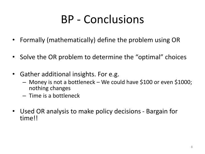 BP - Conclusions