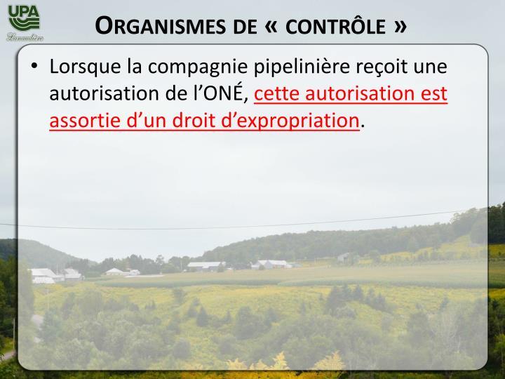 Organismes de «contrôle»