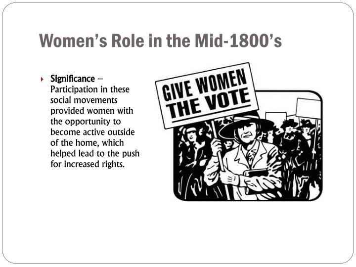 Women's Role in the Mid-1800's