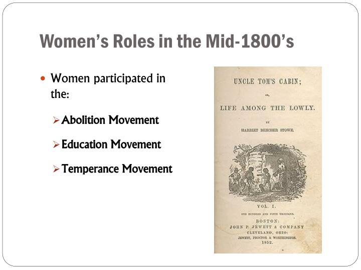 Women's Roles in the Mid-1800's