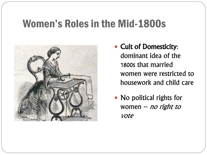 Women's Roles in the Mid-1800s