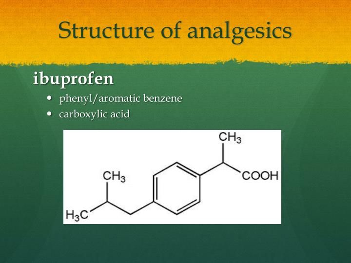 Structure of analgesics