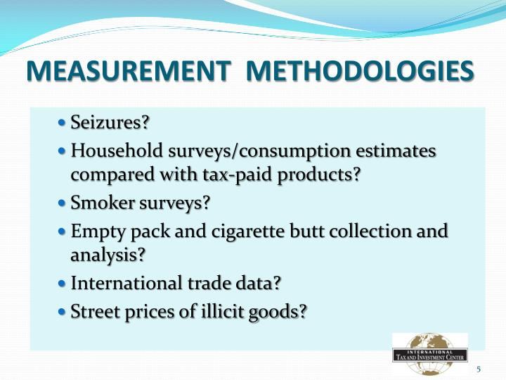 MEASUREMENT  METHODOLOGIES