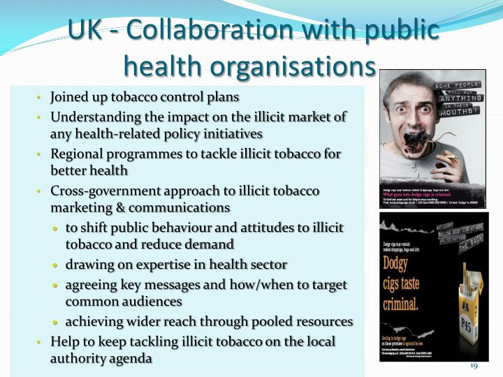 UK - Collaboration with public health organisations