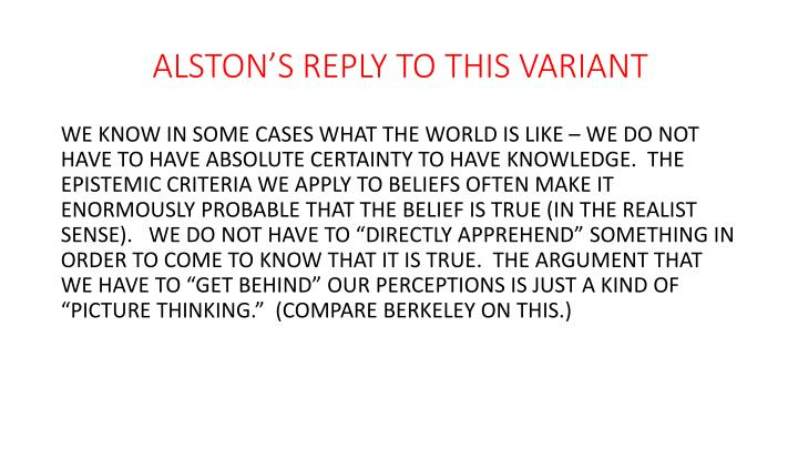 ALSTON'S REPLY TO THIS VARIANT