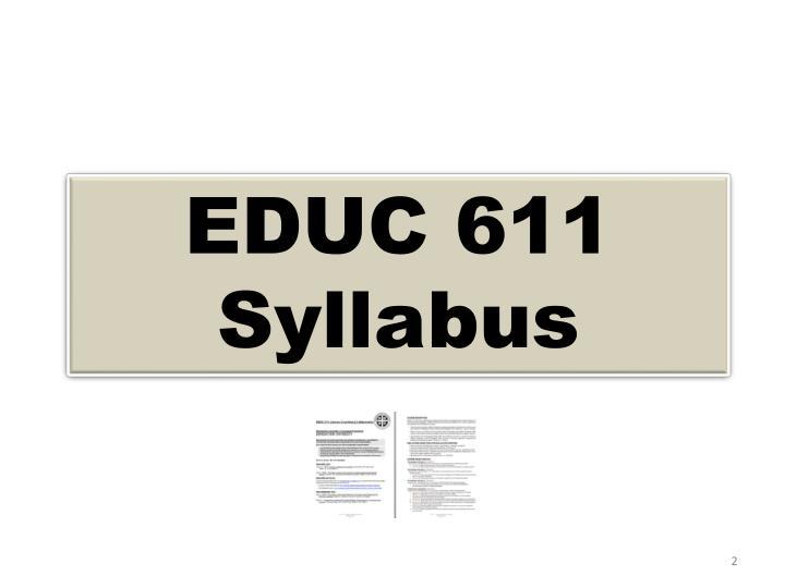 EDUC 611 Syllabus