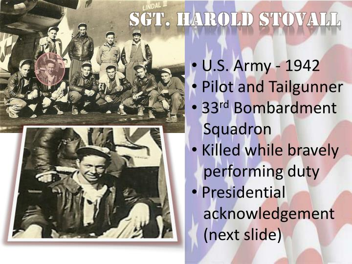 Sgt. Harold Stovall