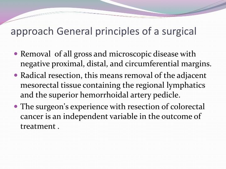 General principles of a surgical