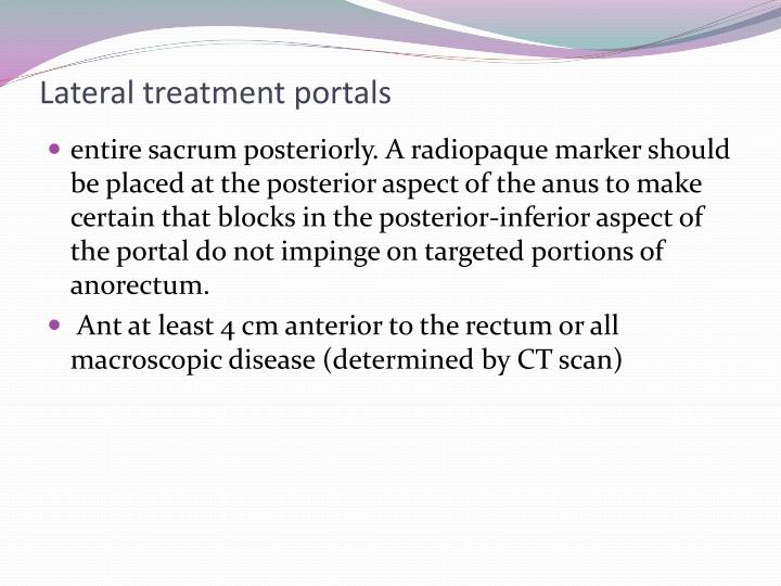 Lateral treatment portals