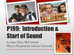 p199 introduction start of sound