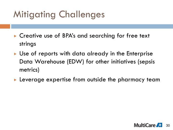 Mitigating Challenges