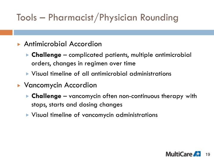 Tools – Pharmacist/Physician Rounding