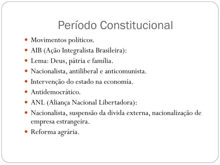 Período Constitucional