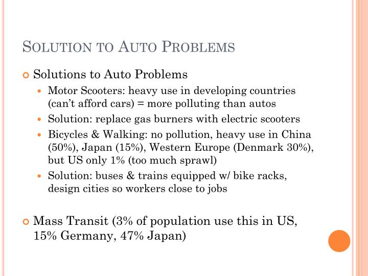 Solution to Auto Problems