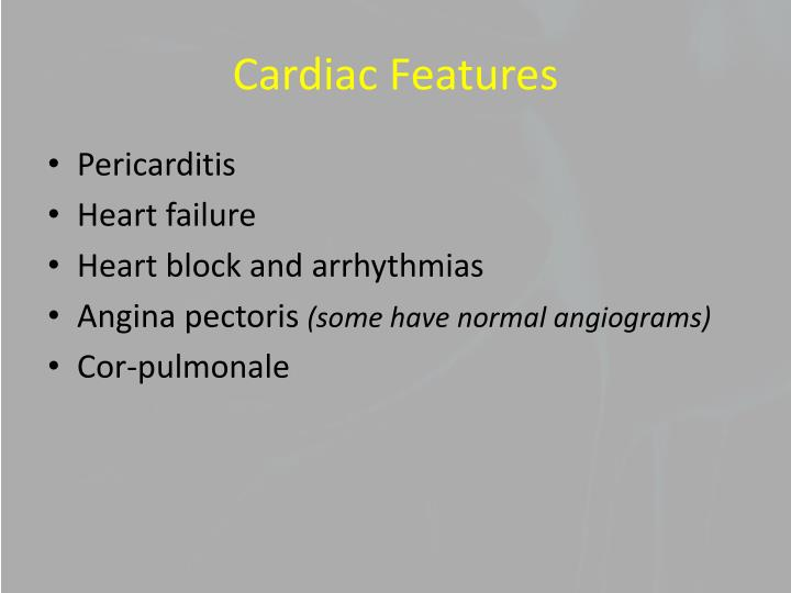 Cardiac Features