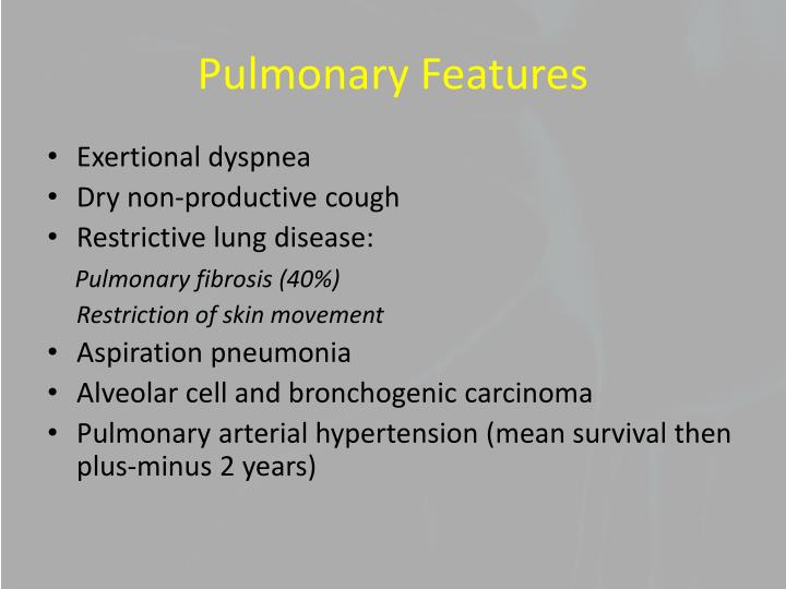 Pulmonary Features