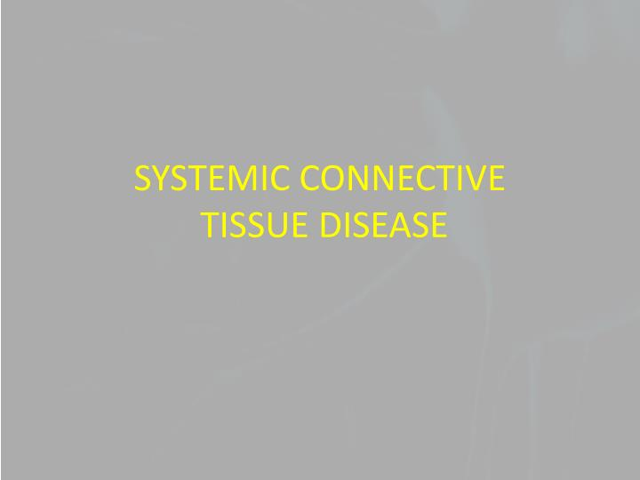 SYSTEMIC CONNECTIVE