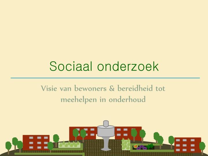 Sociaal onderzoek